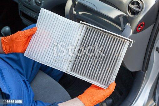 Replacing an old car cabin air filter