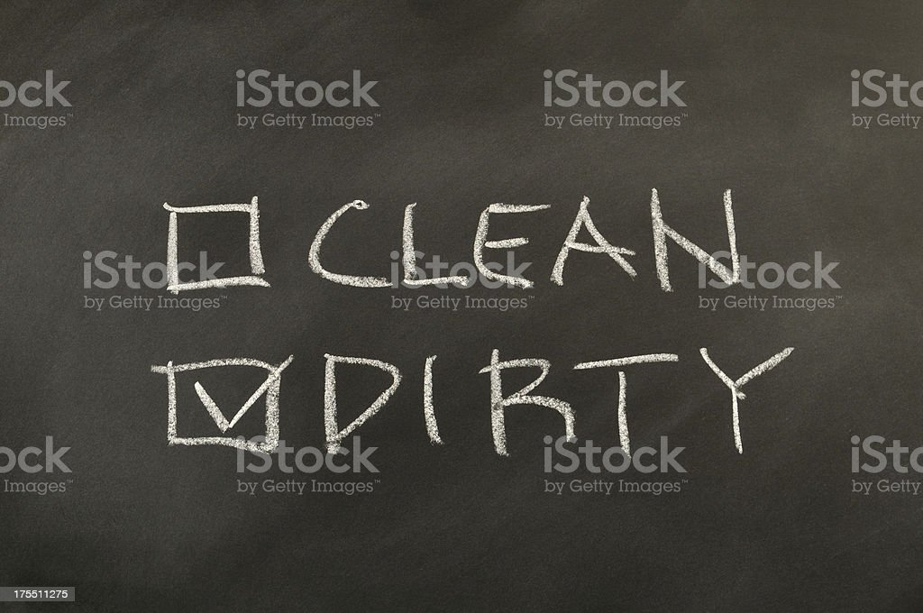 Clean and Dirty Checkbox royalty-free stock photo