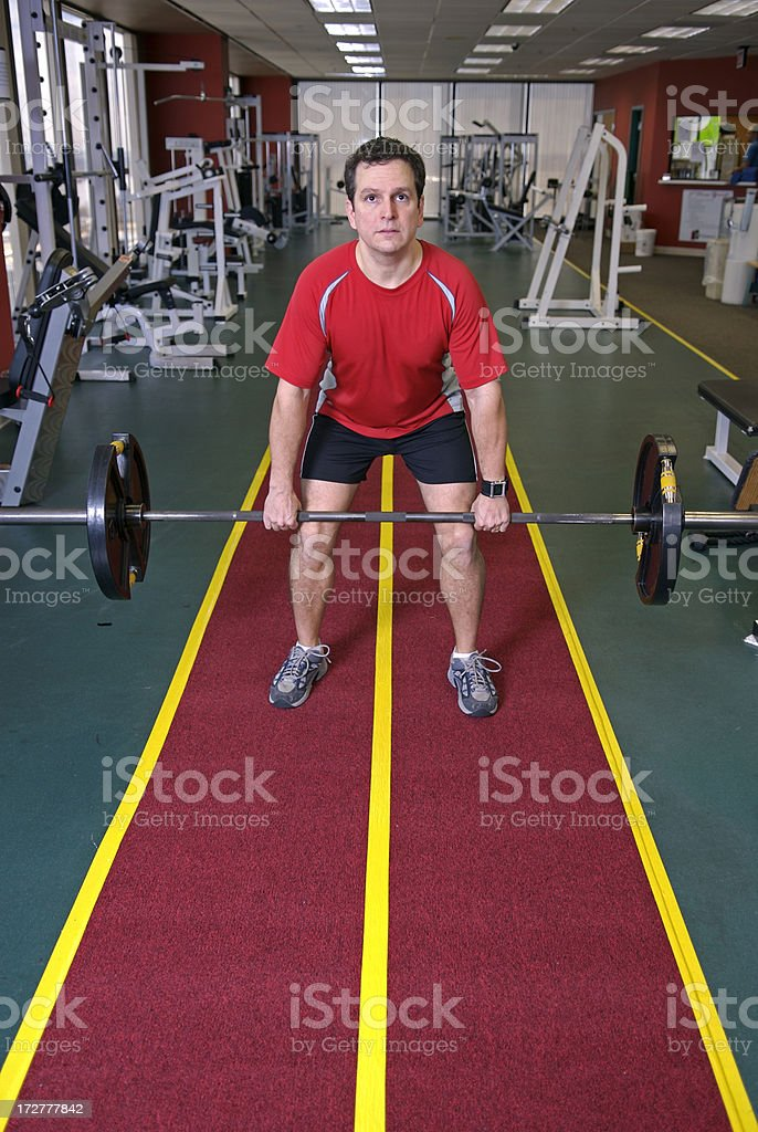 Clean and Jerk royalty-free stock photo
