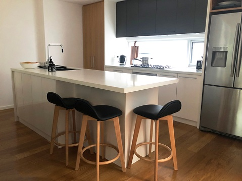 Clean and kitchen bench