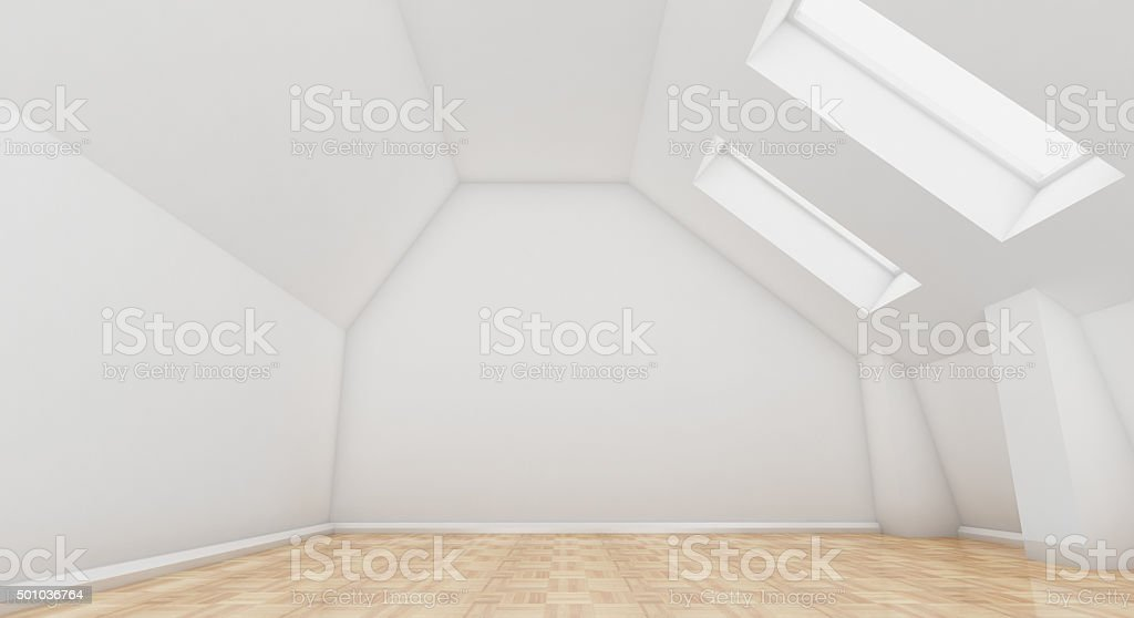 Clean and white Room stock photo