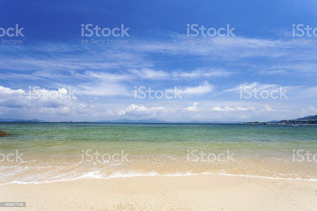 clean beach royalty-free stock photo