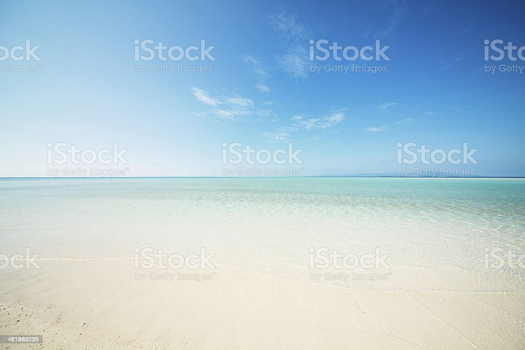 clean beach stock photo