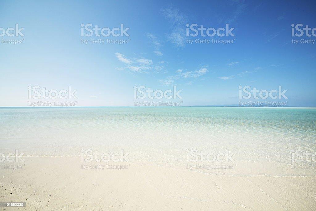 clean beach bildbanksfoto