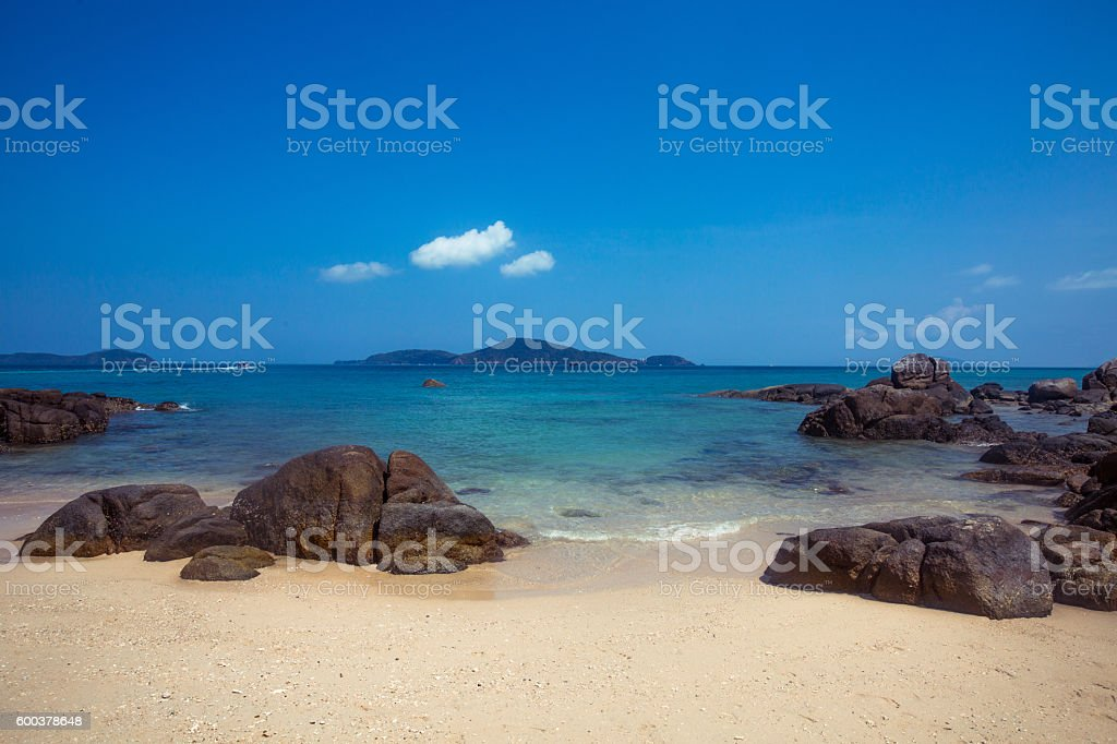 Clean blue sea stock photo