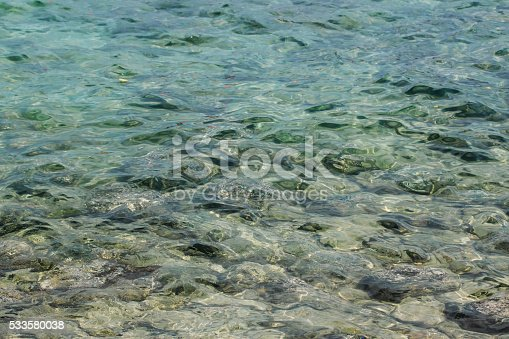 859844580 istock photo Clean blue water texture, with ripples and sun reflections 533580038