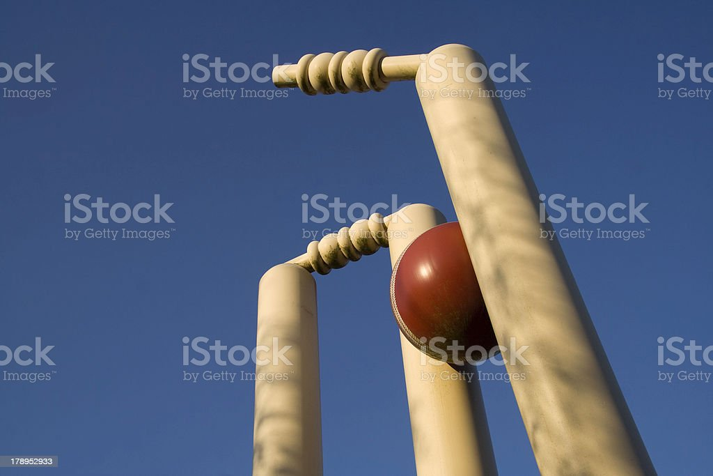 Clean bowled stock photo