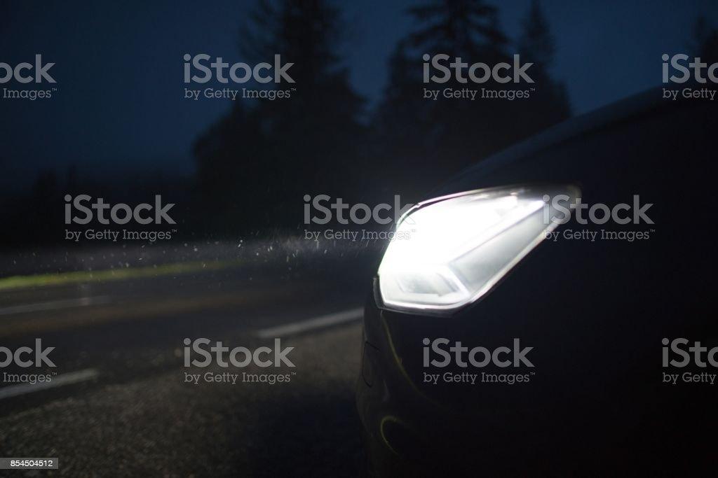 Clean Bright Car Headlights stock photo