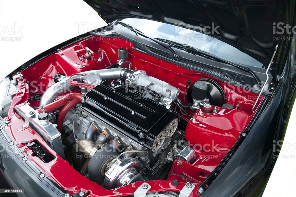 Clean Car Engine stock photo