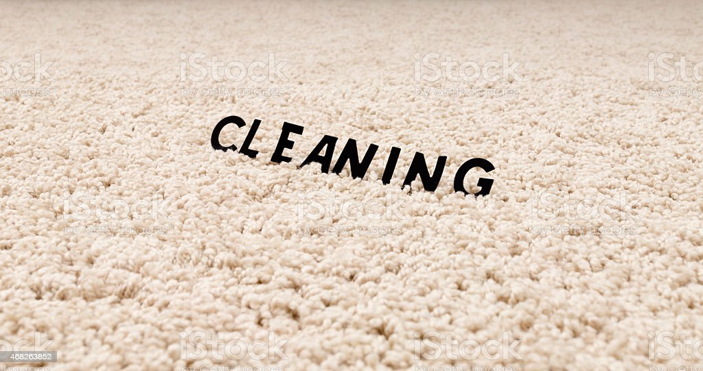 Clean carpet stock photo