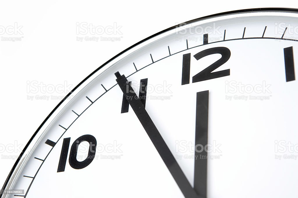 Clean clock royalty-free stock photo