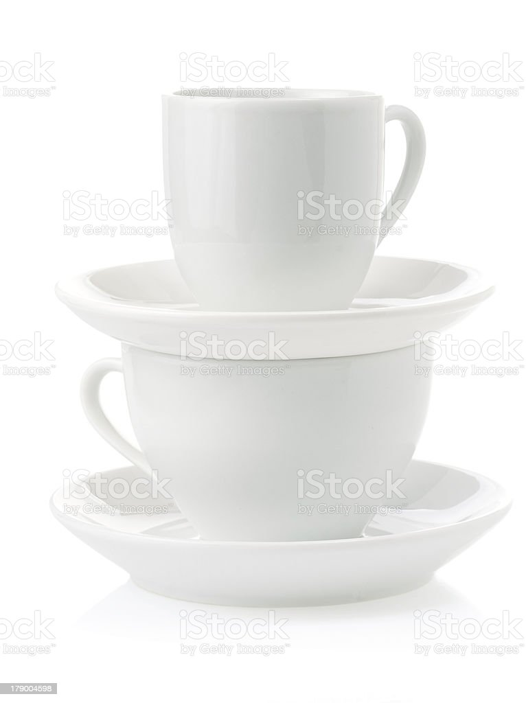 clean cups and saucer royalty-free stock photo