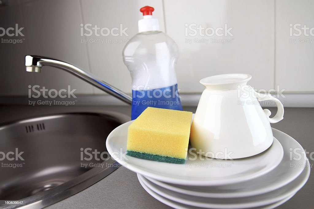 clean dishware royalty-free stock photo