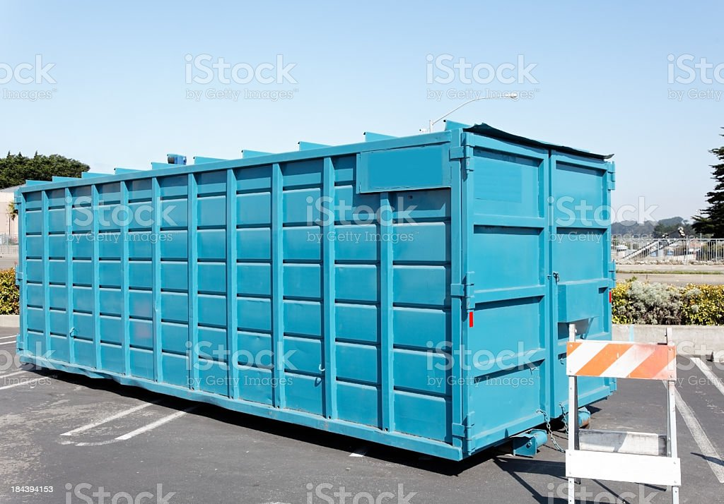 Clean Dumpster stock photo