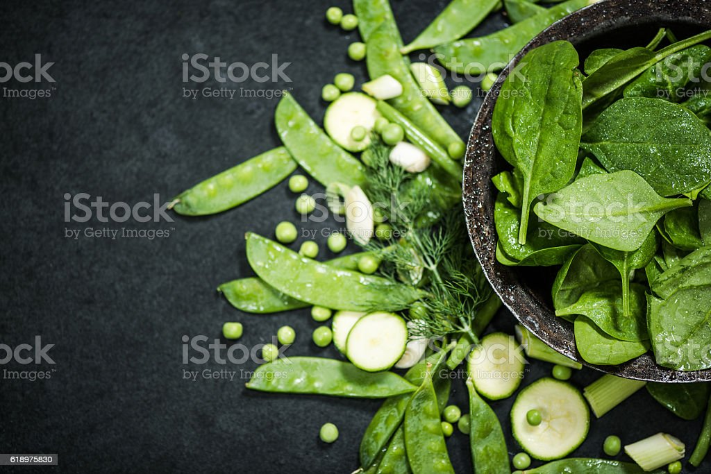clean eating and healthy diet green vegetables - foto de stock