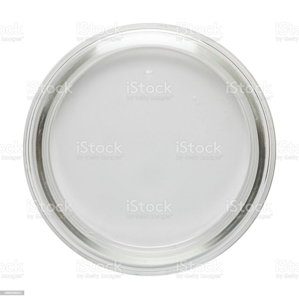 Clean empty perti dish stock photo