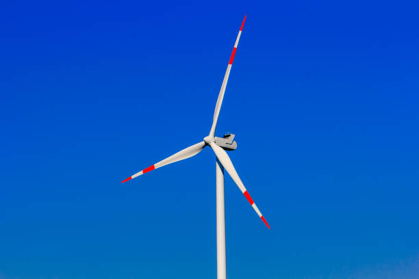 clean energy by wind power. renewable energy stock photo