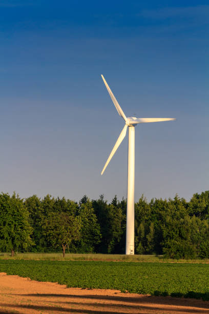 clean energy by wind power, renewable energy stock photo