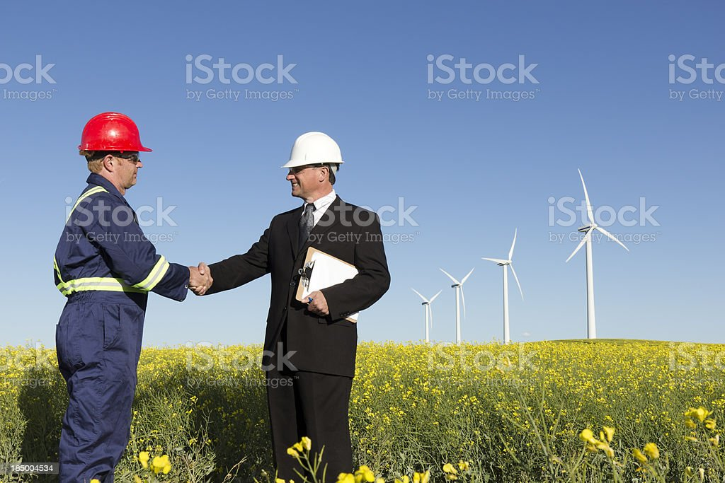 Clean Energy Cooperation royalty-free stock photo