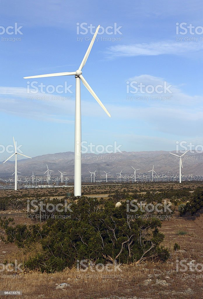 Clean Energy from Wind royalty-free stock photo