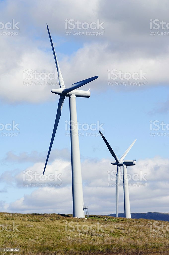 Clean energy, wind farm royalty-free stock photo