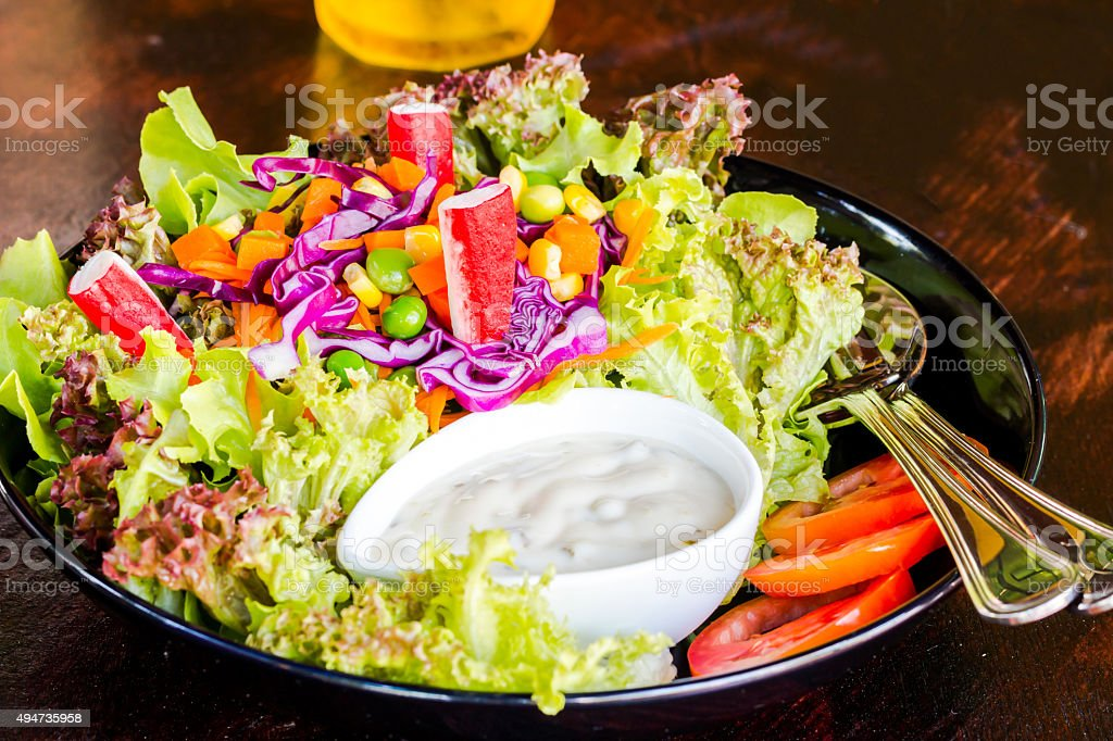 clean Food salad no fat for healthy