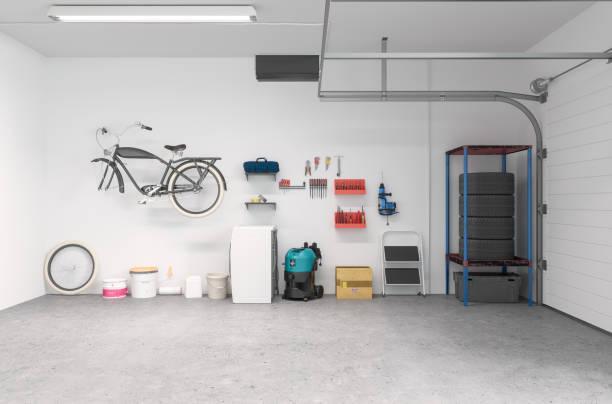 Saubere Garage Innenausstattung – Foto