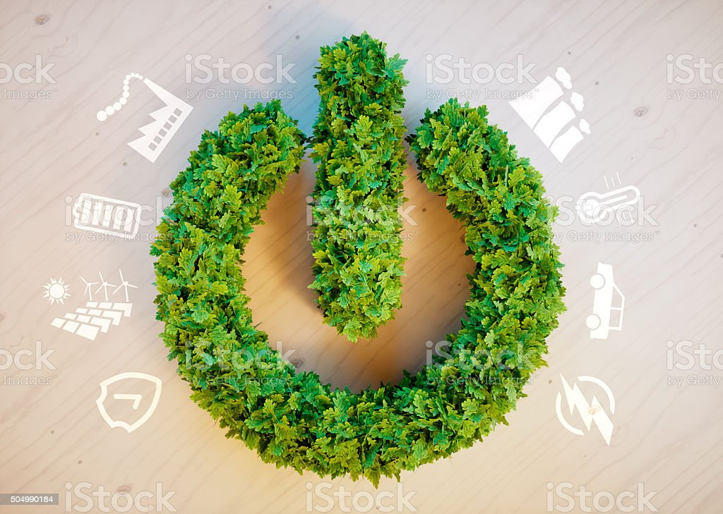 Clean green eco energy concept stock photo