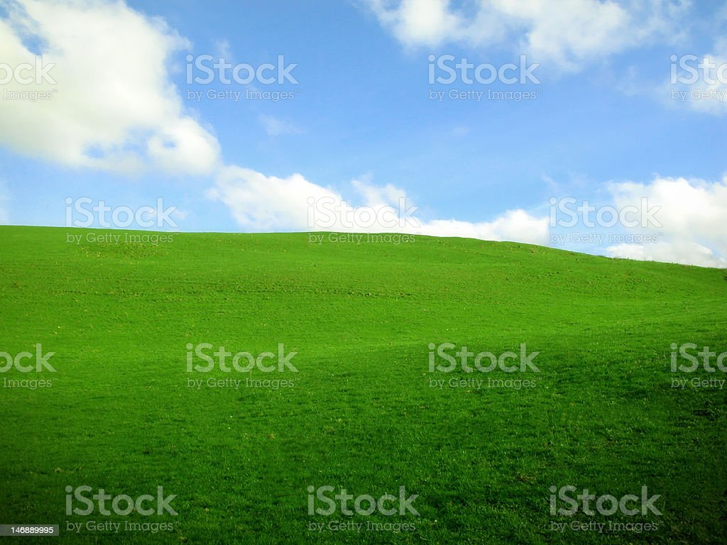 Clean Green Hill stock photo