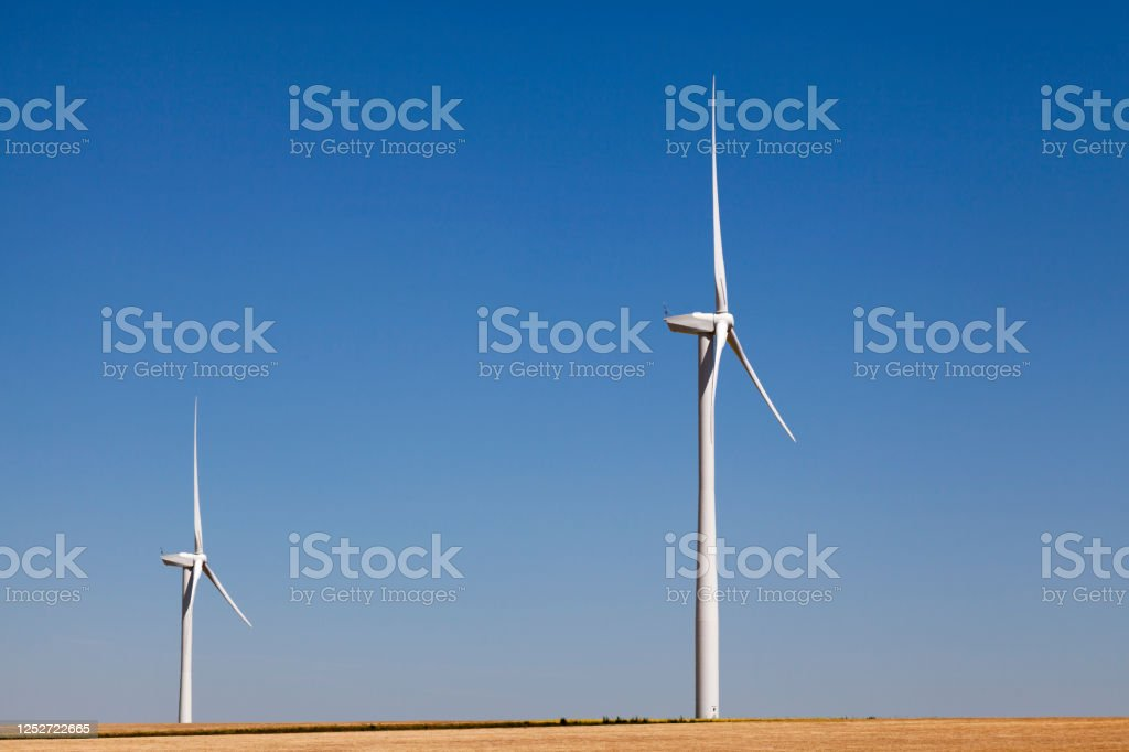 Clean green wind energy - Royalty-free Agricultural Field Stock Photo