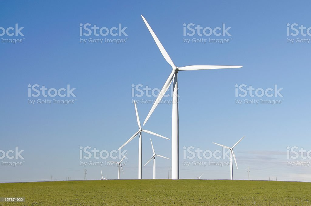 Clean Green Wind Energy stock photo