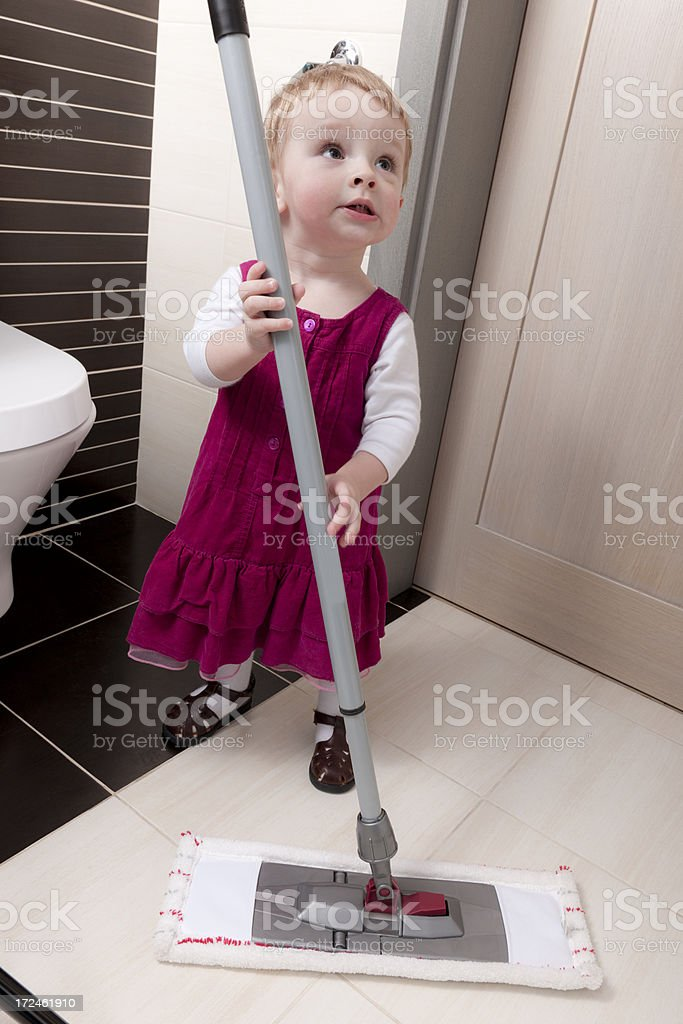 I clean here! royalty-free stock photo