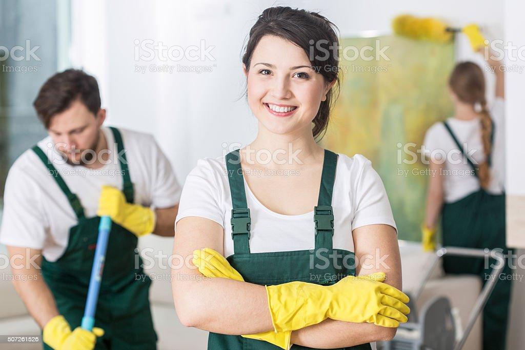 Clean house makes me smile stock photo