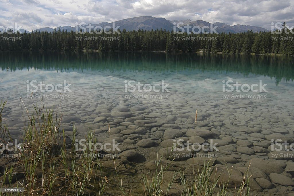 Clean Lake in the Rocky Mountains royalty-free stock photo