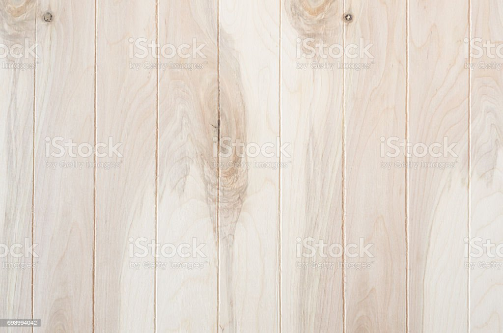 Clean light beige wood plank background. Wooden texture. stock photo