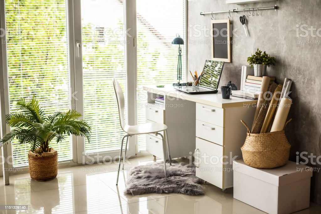 Clean Modern Home Office Stock Photo Download Image Now Istock