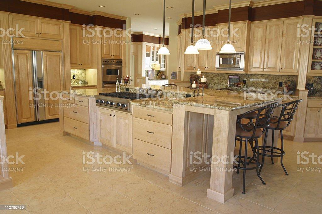 Clean Modern Kitchen royalty-free stock photo