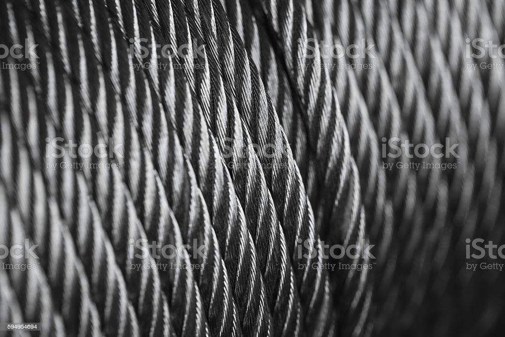 clean new steel , rope sling drum. - foto de stock