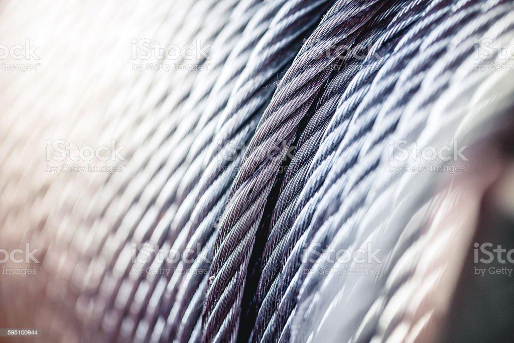 clean new steel , rope sling drum. stock photo