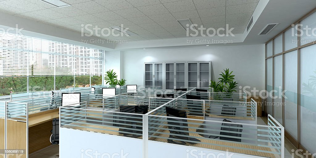 clean office space stock photo