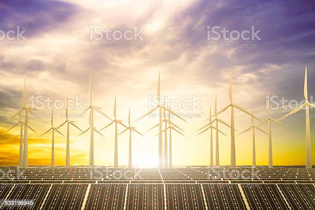 Clean Power Beach Stock Photo - Download Image Now