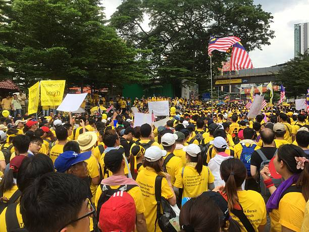 Bersih Rally in KL City, Malaysia stock photo