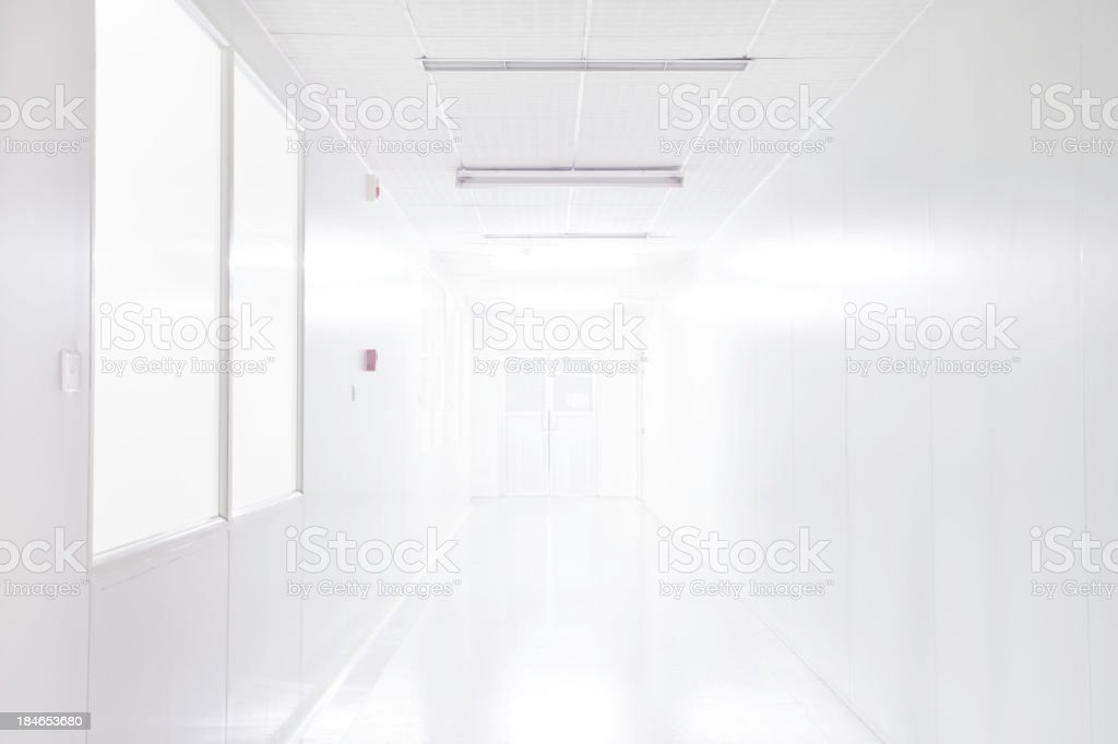clean room in laboratory stock photo