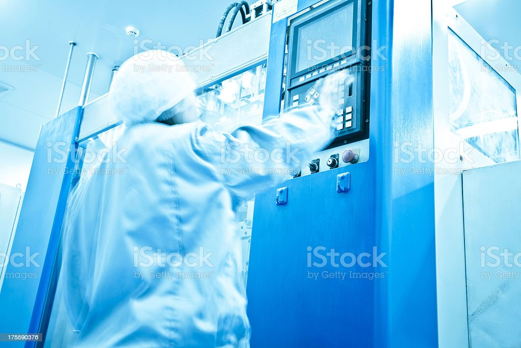 clean room in pharmaceutical factory stock photo