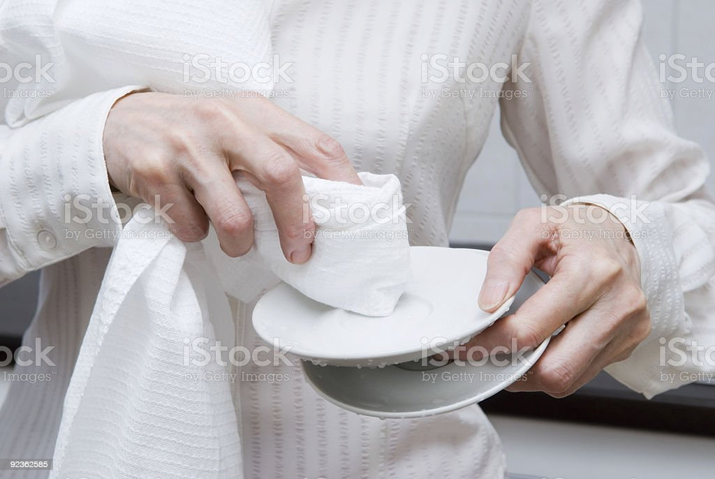 Clean saucer royalty-free stock photo