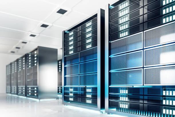 Sauberen Server raumhintergrund – Foto