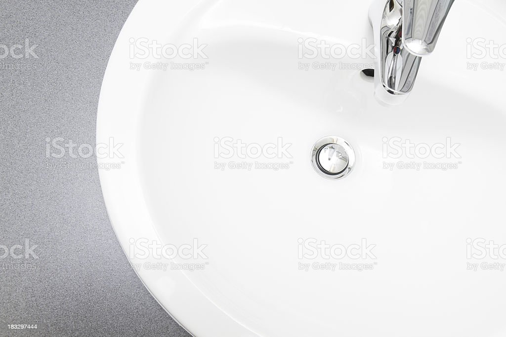 Clean simple washbowl from above. stock photo