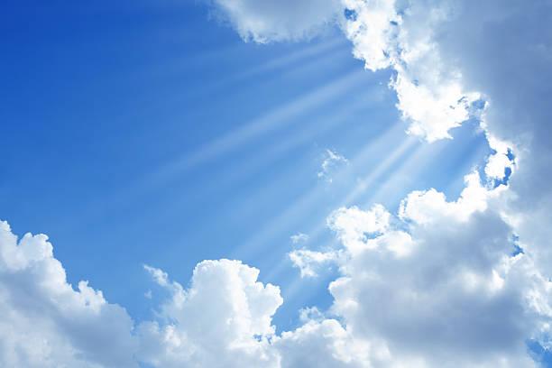 clean sky and sun light - cennet stok fotoğraflar ve resimler