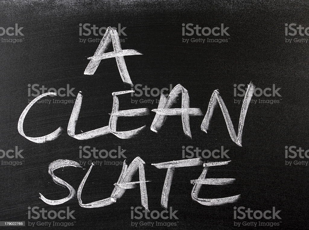 Clean Slate royalty-free stock photo