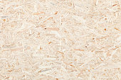 Clean surface of wood particle Board. Texture of compressed wood chippings board.
